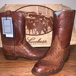 Lucchese Ostrich Ropers - Size 10 D